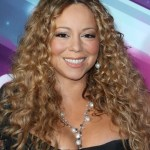 Mariah Carey long curly hairstyle for round faces