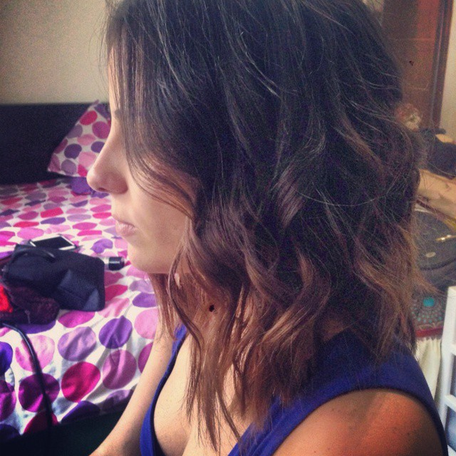 Medium ombre Bob Hairstyle with waves