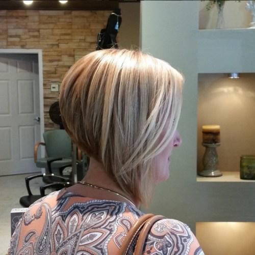 Popular short inverted bob haircut