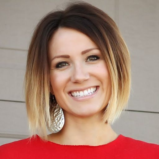 Simple easy short ombre bob haircut for women