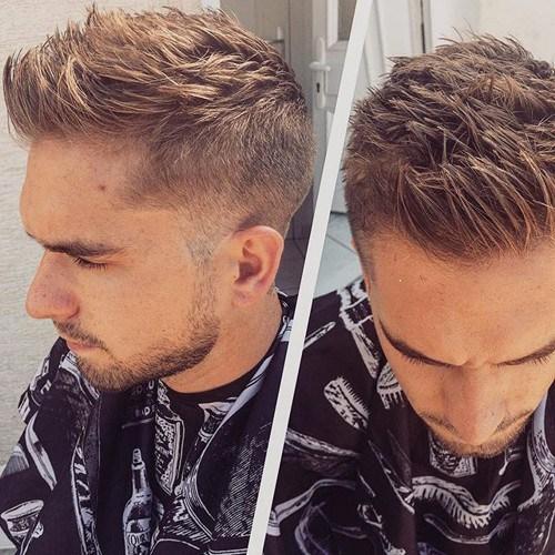 best short haircut for guys - Faux Hawk
