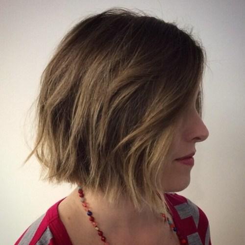 choppy bob haircut for short hair