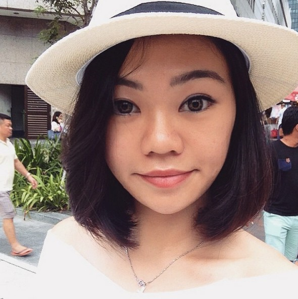 cute layered short bob hairstyle for Asian girls with heart face shapes