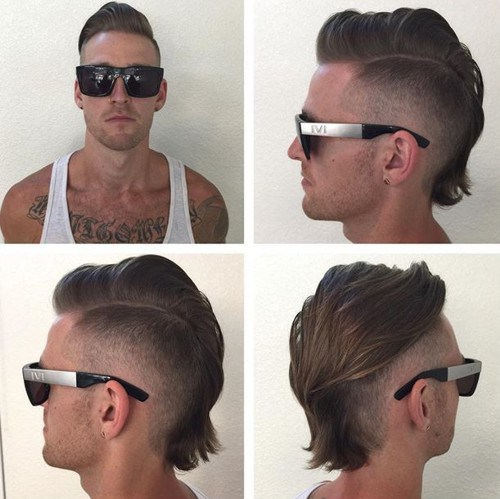 long faux hawk haircut for men