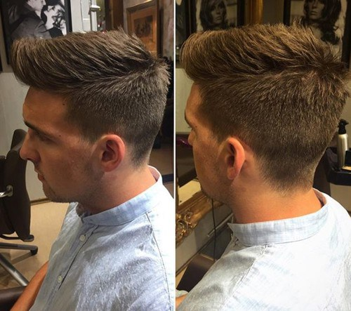 most popular hairstyle for guys - faux hawk