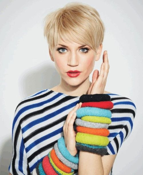 short pixie cut with bangs for fine hair