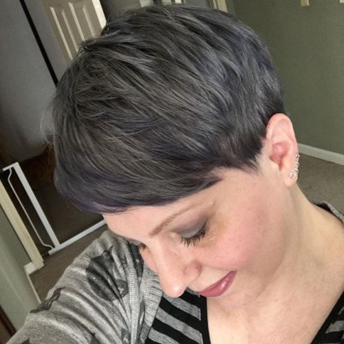 short pixie cut with layers for women over 50