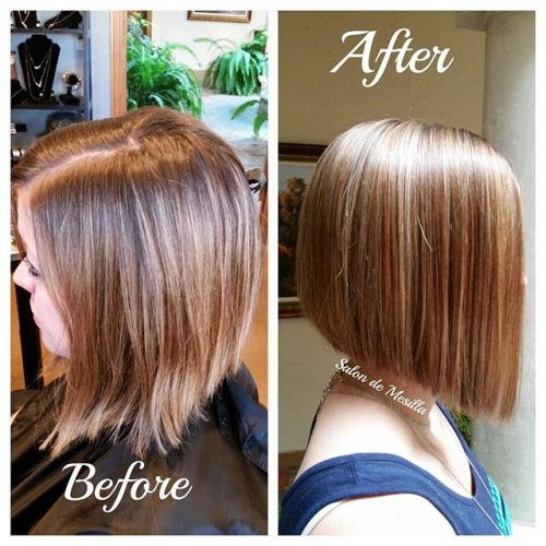 short straight a-line bob hairstyle for women