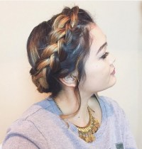 milkmaid braid with long hair 20 cute easy milkmaid braid ...