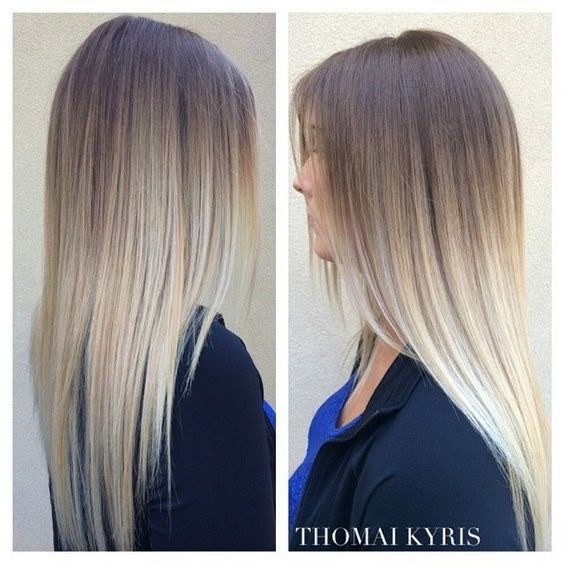 Gorgeous Grey Ombre Hair - Straight Long Hairstyles for Girl Long Hair