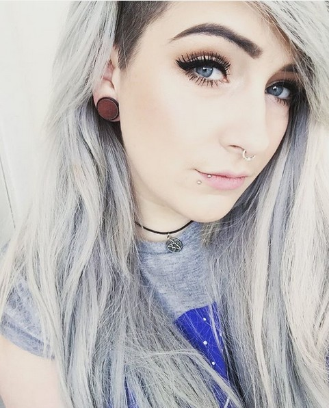 Grey Hair Trend - Shaved Haircuts for Long Hair