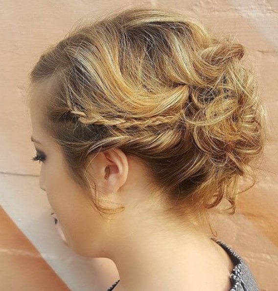 Messy Updo Hairstyle with Braid - Getting Ready for Prom