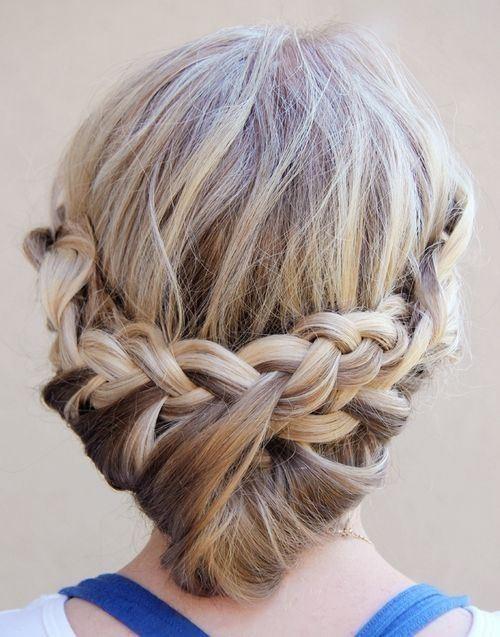 Princess Bun Updos with Loose Braid - Updo Hairstyle Tutorial