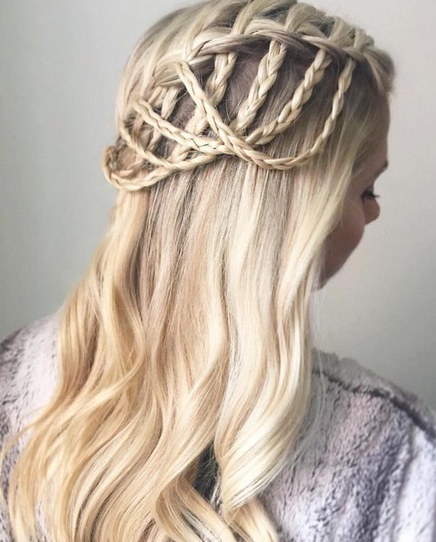 Stylish Waterfall Braid