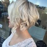 Textured Choppy Blonde Bob - Stacked Short Haircuts
