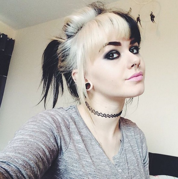 Two Tone Hair - Hair Color Ideas for Girls