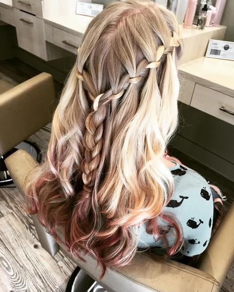Waterfall Braids - Cute Hairstyles for Girl Long Hair