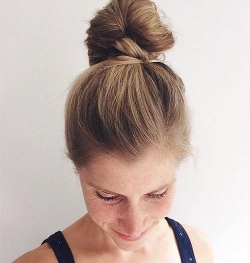 7 Cute Simple Easy Top Bun Updos You Shouldnt Miss