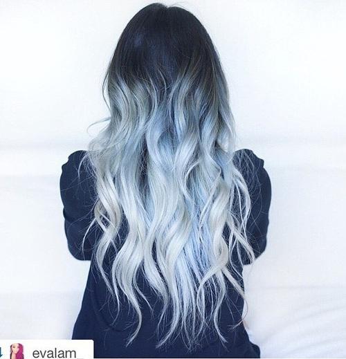 Black, Blue and Sliver Curls
