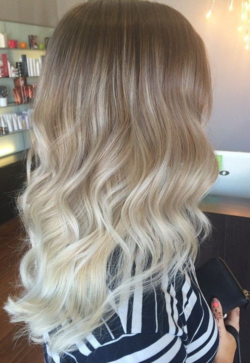Blonde Ombre Curls