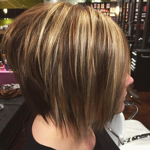 Blonde and Brown Bob