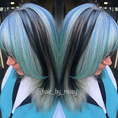 20 Blue Hair Color Ideas Pastel Blue Balayage Ombre