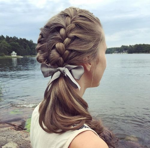 Braided Ponytail with Bow