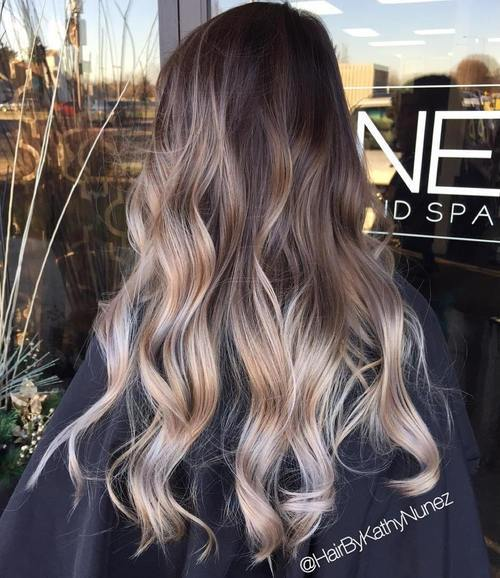 Brown, Blonde and Sliver Hairstyle