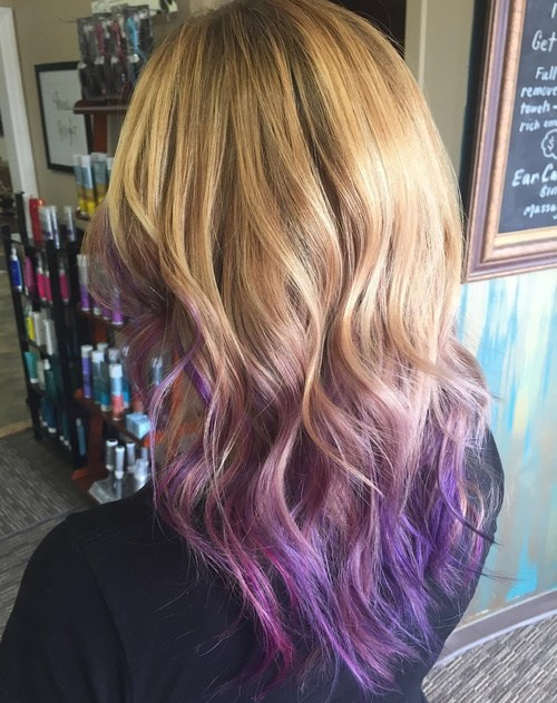 Honey and Lavender Hairstyle