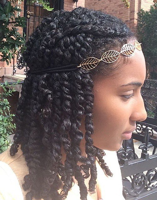 20 Beautiful Twisted Hairstyles For Women With Natural Hair 2020