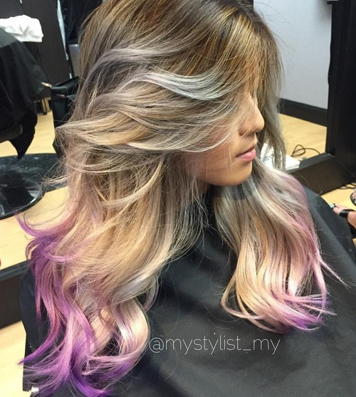 25 Amazing Purple Ombre and Lavender Ombre Hairstyles  Hairstyles Weekly