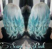 blue hair color ideas- pastel