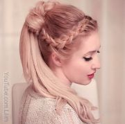 easy french braid ponytails