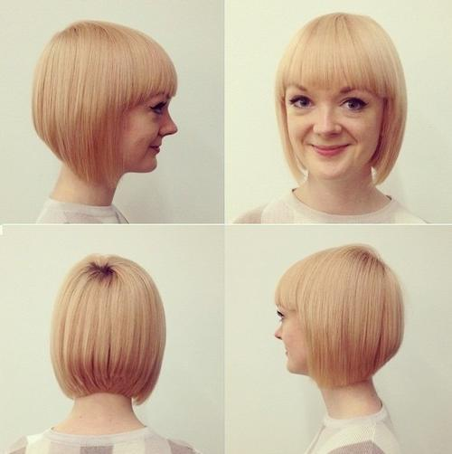 Blonde Bob with Blunt Bangs