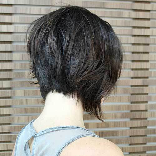 Messy Inverted Bob