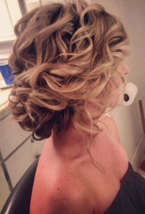 Chic gorgeous wedding updo for shoulder length hair