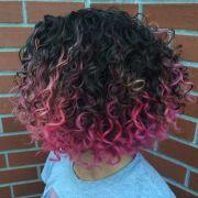 trendy pink hairstyles spring