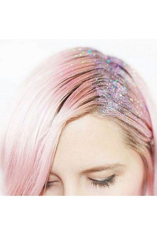 Gorgeous Hairstyles with Glitter Roots