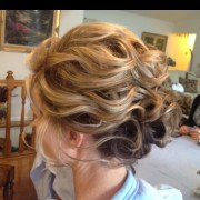 romantic messy updos wedding
