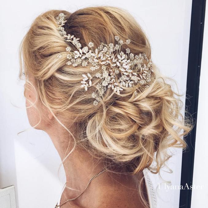 35 romantic wedding updos for medium hair - wedding