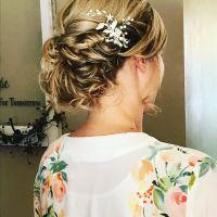 35 Romantic Wedding Updos for Medium Hair  Wedding ...