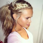pretty easy messy ponytail hairstyles