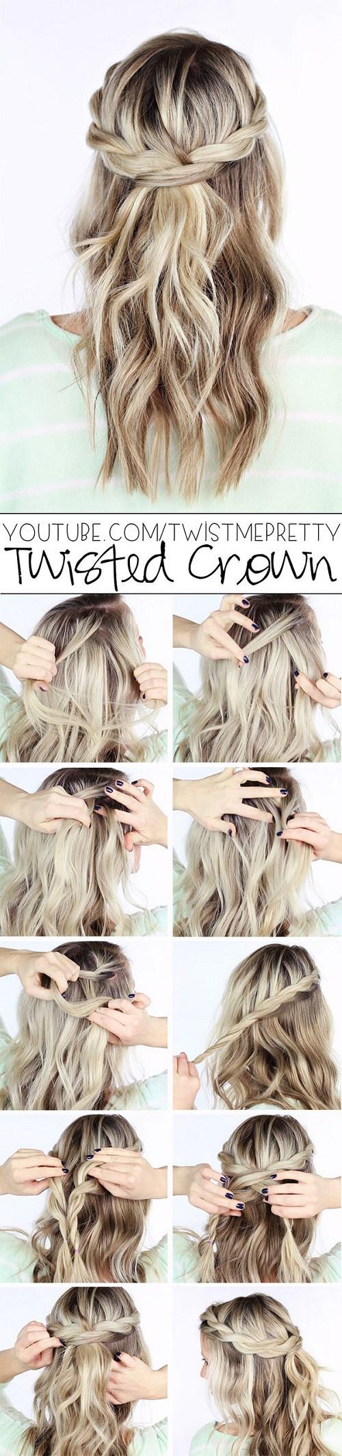 20 Simple Hair Tutorials for Medium and Long Hair