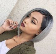 trendy silver gray hair color