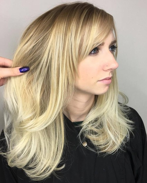 21 Cute, Effortless Long Hairstyles with Bangs and Laye
