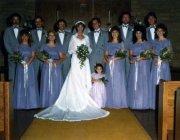 80s wedding hair and fashion