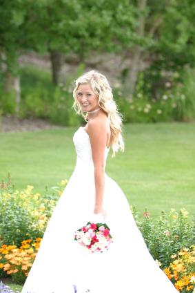 Long Bridal Hairstyle Worn Down