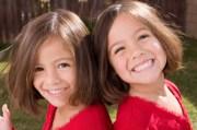 twins with bob haircuts