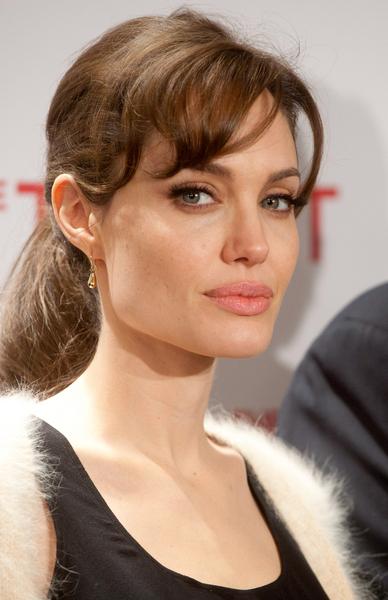 Angelina Jolie Simple Ponytail