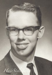 1950's men's haircut and glasses